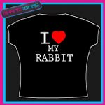 I LOVE HEART MY RABBIT FUNNY TSHIRT